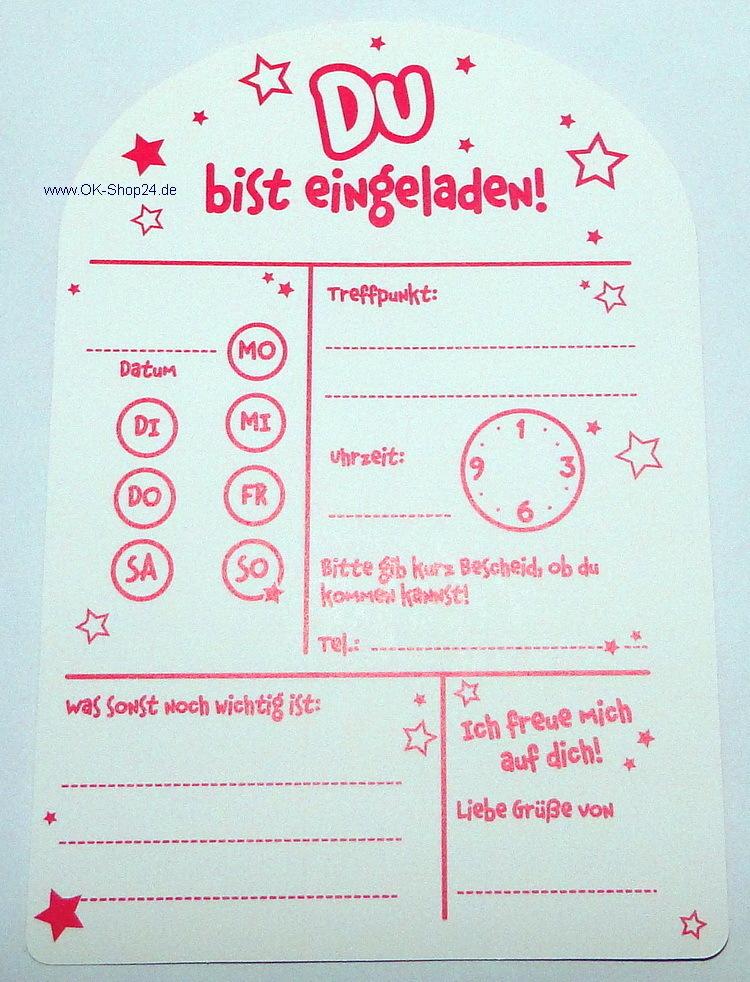 Einladungskarten Umschläge Kindergeburtstag Frosch - OK-Shop24