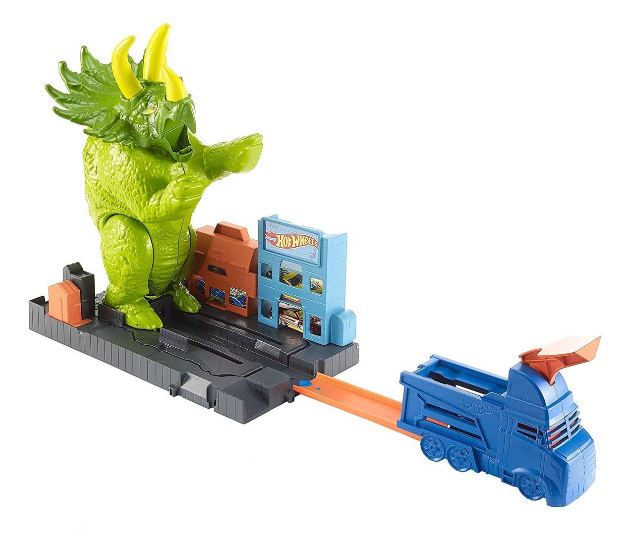 Hot Wheels GBF97 City Triceratops Angriff Dinosaurier