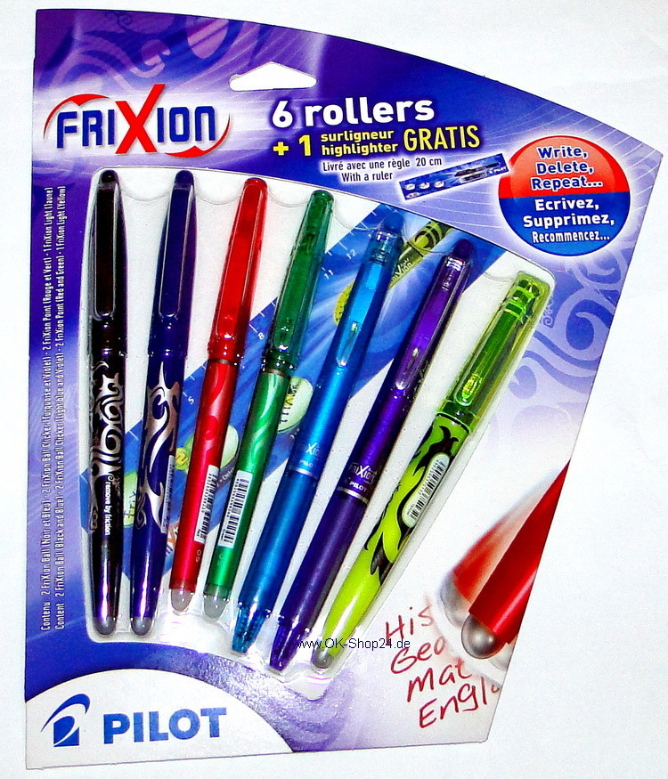 8 tlg. Set FRIXION PILOT Ball / Point / Textmarker
