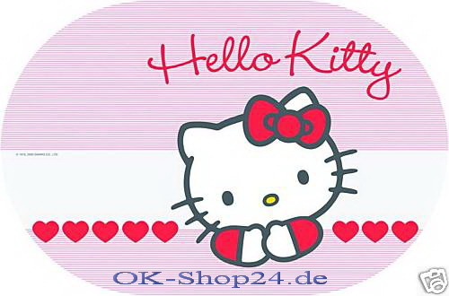 Hello Kitty Sweet Heart Tischset Platzdecke