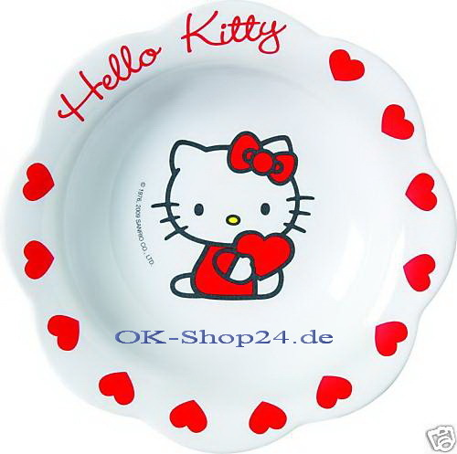 Hello Kitty Sweet Heart Müslischale Kinderteller