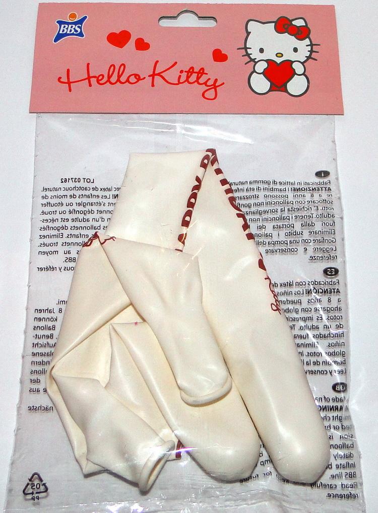 Hello Kitty Sweet Heart Happy Birthday Luftballons