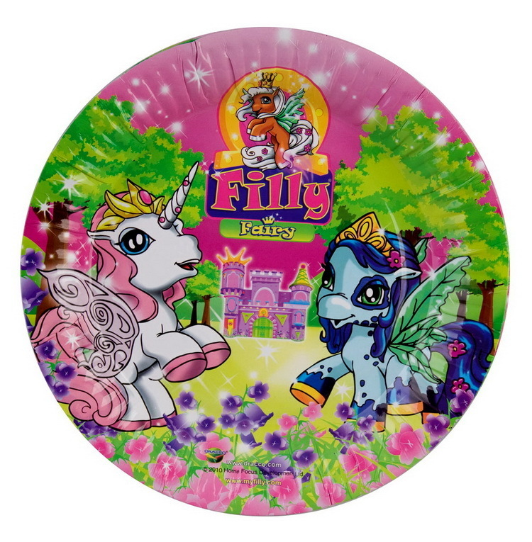 Filly Fairy 8 Pappteller 23 cm Party Kindergeburtstag