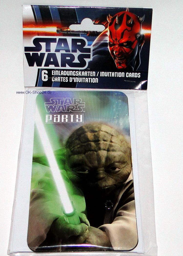 Star Wars Einladungskarten U0026 Umschlägen ...