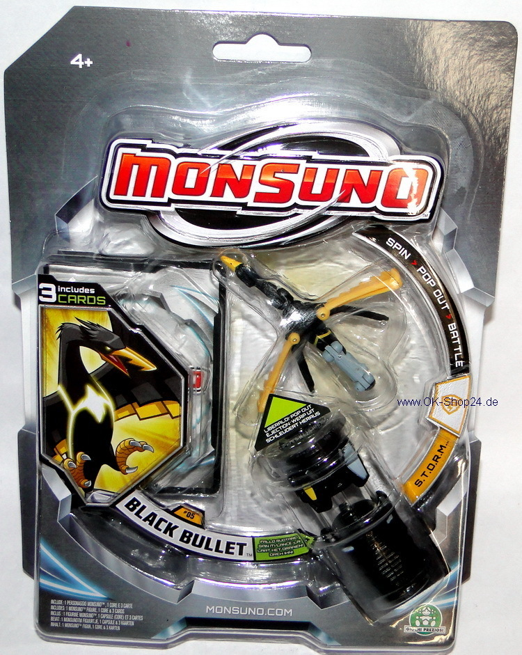 Monsuno Figur 05 Monster Black Bullet Team S.T.O.R.M